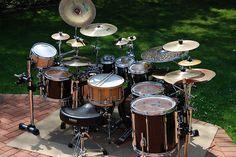 slipknot drum set pearl jj728 joey jordison limited edition 8 piece double bass drum kit. Black Bedroom Furniture Sets. Home Design Ideas