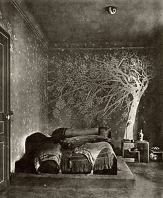 The bedroom of Paul Poiret