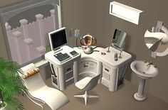 Mod The Sims - Clean'n'Soft White Cosmetic Center