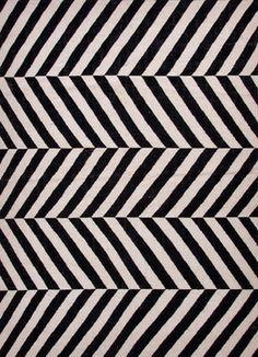 Geometric Rug Herringbone Black & White modern rugs