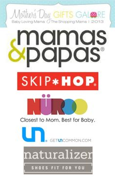 Mothers Day Gifts Galore:: best Mothers Day gift ideas and huge giveaways at The Shopping Mama and Baby Loving Mama