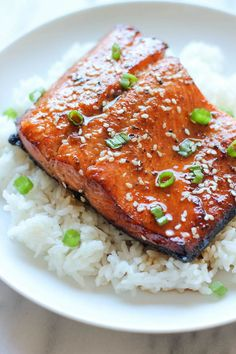 Sesame Ginger Salmon - Very yummy! Next time I'll double down on the soy and ginger.