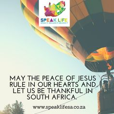 MAY THE PEACE OF JESUS RULE IN OUR HEARTS AND LET US BE THANKFUL IN SOUTH AFRICA. Let the peace of Christ rule in your hearts since as members of one body you were called to peace. And be thankful. Colossians 3:15  #speaklifesa #peace #freeapp    http://ift.tt/1NrVDJQ   APP DOWNLOAD: ANDROID:http://bit.ly/22nrtuw   IOS:http://apple.co/1sNSMCd