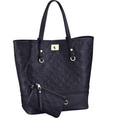 Louis Vuitton Empreinte Citadine GM in navy blue  Awesome bag for everyday use and can be used as a diaper bag if needed!!