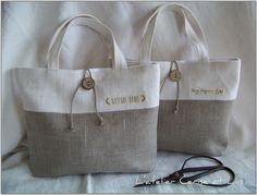 Sac champêtre 025 Plus cabzs vb Cabas vb Plus Hessian Bags, Burlap Tote, Jute Bags, Diy Pochette, Sac Week End, Fab Bag, Diy Purse, Simple Bags, Fabric Bags