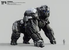 "Cinematografic Transformers Beast Wars: Legends ""Survival of the Fittest"" - Optimus Primal Gorilla Mode Robot Concept Art, Weapon Concept Art, Samurai Concept, Animal Robot, Beast, Arte Steampunk, Futuristic Robot, Futuristic Armour, Arte Robot"