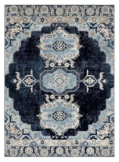 Royalty, Navy Blue Distressed Persian Oriental Rug | Area Rugs Cheap - Bargain Area Rugs
