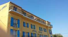 Atoll Hotel Fréjus Atoll Hotel is just 100 metres from the beach and marina in the heart of Fréjus. Free on-site parking is provided, and the town's attractions are easily accessible on foot.  Guest rooms have air conditioning, a private bathroom, a TV and hairdryer.