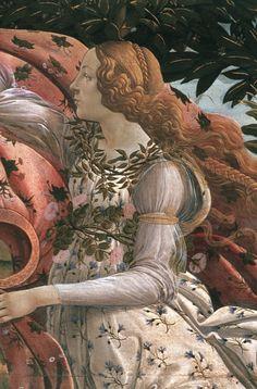 Sandro Botticelli, Birth of Venus (detail), c. 1482  Boticelli <3