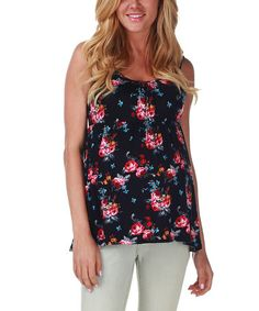 Look what I found on #zulily! PinkBlush Black Maternity Tank #zulilyfinds