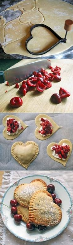 Sweetheart Cherry Pies Recipe