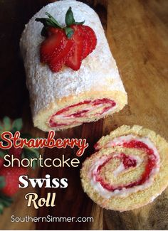 Vanilla cake with cream cheese and strawberry jelly filling