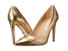 Pantofi stiletto aurii ieftini