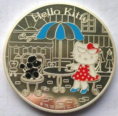 France 2005 Hello Kitty 1 1 2 Euro Colour Silver Coin Proof | eBay