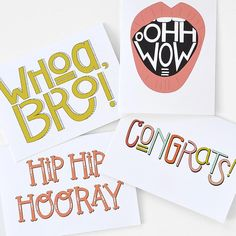 WHOA, BRO! 4.5 x 6.25 hand drawn greeting card with plain white envelope. Blank inside. Printed on smooth and delicious matte white 60# cover. All card designs are done by hand, digitized, printed, cut, and packaged in my studio.