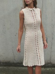 Retro crochet dress 1 | Flickr - Photo Sharing!