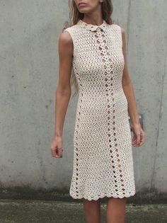 Retro crochet dress 1   Flickr - Photo Sharing!