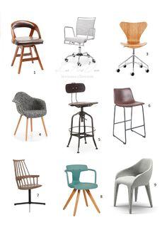 Claves para montar tu oficina profesional en tu propia casa. Selección de mobiliario. Sillas