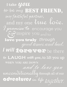 These were our wedding vows. Thought I had lost them when I deleted my wedding b… These were our wedding vows. Thought I had lost them when I deleted my wedding board, but managed to find them! Oh so happy to read them again, The Words, My Sun And Stars, Just Dream, Before Wedding, Love You, My Love, Love And Marriage, Marriage Vows, Wedding Vows That Make You Cry