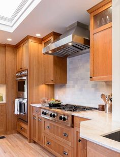 Cherry Shaker cabinets with cooktop and hood Kitchen Tile, Kitchen Cabinets, Lotus, White Granite, Shaker Cabinets, Cherry, Kitchens, Design, Google Search