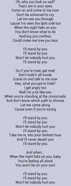 The Pretenders . I'll Stand By You