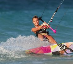 Women rider on the siren board - Cabrinha Siren Collection kite surf girl by adoscool.com 2015
