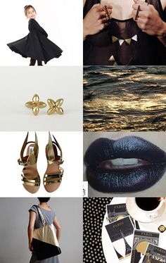 Midnight Gold by Nataly on Etsy