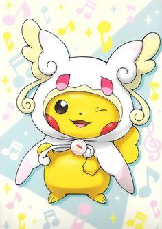 Pikachu as Mega Audino Mega Pokemon, Pokemon Memes, Pokemon Fan Art, Cool Pokemon, Pokemon Cards, Pokemon Fusion, Pokemon Tattoo, Pokemon Funny, Pikachu Art