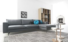 Open base squarish modular sofa.  Square - Calligaris CS/3371