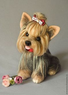 Toy animals, handmade.  Order Yorochka Bonya.  Anna Romanova.  Arts and crafts fair.  Dog, 100% wool