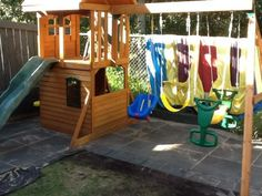 Envirotile provides a soft and durable surface for under playgrounds