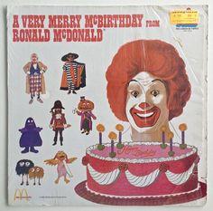 McDonald's - A Very Merry McBirthday from Ronald McDonald  LP Vinyl Record Album, Kid Stuff Records - KSS 5036, 1983, Original Pressing