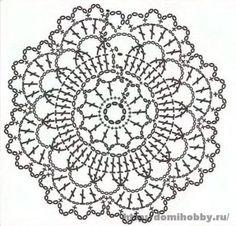 Motivi per uncinetto, small round crochet motif, doily or coaster Más Crochet Mandala Pattern, Crochet Doily Patterns, Crochet Chart, Crochet Squares, Thread Crochet, Crochet Doilies, Crochet Flowers, Crochet Stitches, Crochet Hooks
