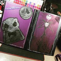 Backsides of a #flipbook I'm working on #halloween #jackskellington #nightmarebeforechristmas #inkypinkyboo #papercrafting