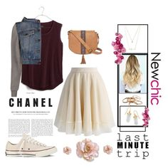 """Wednesday"" by mgilde ❤ liked on Polyvore featuring Chicwish, Madewell, Moschino, Converse, Forever 21, T-shirt & Jeans, Kendra Scott and BillyTheTree"