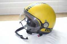 #apparel Momo Design Motorcycle Scooter Helmet with Face Shield Yellow/Black Size L please retweet