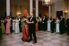 President LBJ dancing with Carol Channing.