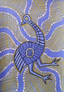 Dream Painters: Australian Native Animals: Emu in the Indigenous Art Style