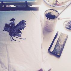 "Serigraphie pour la nouvelle collection ""Into the wild""(automne/hiver) #chicamancha #illustration #pattern #serigraphie #silkscreen #paris #intothewild"