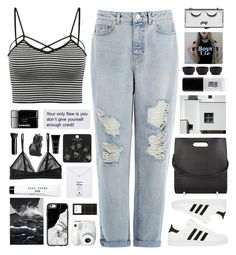 """""""Untitled #2377"""" by tacoxcat ❤ liked on Polyvore featuring Warehouse, adidas, Alexander Wang, Topshop, Monki, Bobbi Brown Cosmetics, Dogeared, JINsoon, Casetify and PyroPet"""