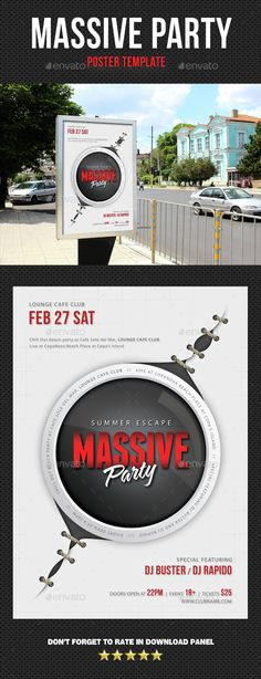 Environment Poster Template Signage, Print templates and Font logo - advertising poster templates