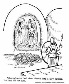 Fiery Furnace Coloring Page New Shadrach Meshach and Abednego Old Testament Coloring Pages Sunday School Coloring Pages, Fall Coloring Pages, Bible Coloring Pages, Coloring Books, Coloring Sheets, Sunday School Activities, Bible Activities, Sunday School Crafts, Bible Story Crafts