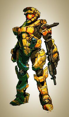 Strike Team Tango / Tango Three Two Halo Spartan Armor, Halo Armor, Halo Reach, Armor Concept, Concept Art, Odst Halo, Halo Game, Sci Fi Armor, Cyberpunk