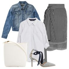 Business Lunch - Is yourwork wardrobe is feeling a bit ho-hum? Try infusing your ensemblewith punchy prints and patterns. If you're inspired to try pattern mixing, aimfor black and white designs that play well together.