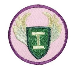Girl Scout Junior Independence Badge. Check out the requirements in The Girl's Guide to Girl Scouting. Girl Scout badges $1.50.