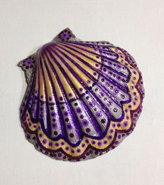 Hand painted ocean sea shell.