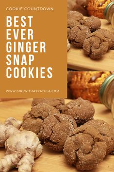 I love these Ginger Snap Cookies because they smell so good when they are baking and taste even better once they are out of the oven and cool enough too eat. These Ginger Snap Cookies are very easy to make. Good Food, Yummy Food, Delicious Recipes, Easy Recipes, Christmas Desserts, Christmas Cookies, Baking Recipes, Cookie Recipes, Ginger Snap Cookies
