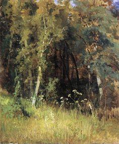 by Ivan Shishkin ((Russian: Ива́н Ши́шкин was a Russian landscape painter Russian Painting, Russian Art, Landscape Artwork, Abstract Landscape, Forest Landscape, Russian Landscape, Ecole Art, Traditional Landscape, Watercolor Trees