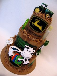 John Deere diaper cake, I am so in love with this!