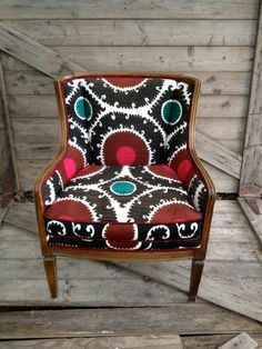 In LOVE with this chair. Vintage Suzaniupholstered comfy club chair by chezboheme on Etsy, $1150.00